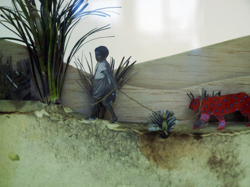 leviszi sétálni az utolsó berber leopárdok egyikét marina sztefanu art artist recycling box contemporary art hungary budapest