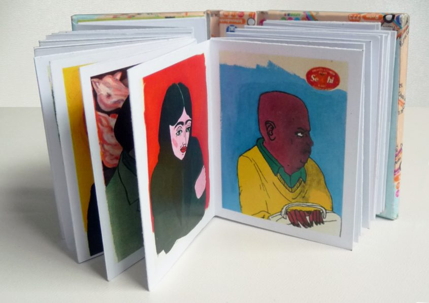 előttem a buszon in front of me on the bus marina sztefanu art artist contemporary art portrait portré könyv book