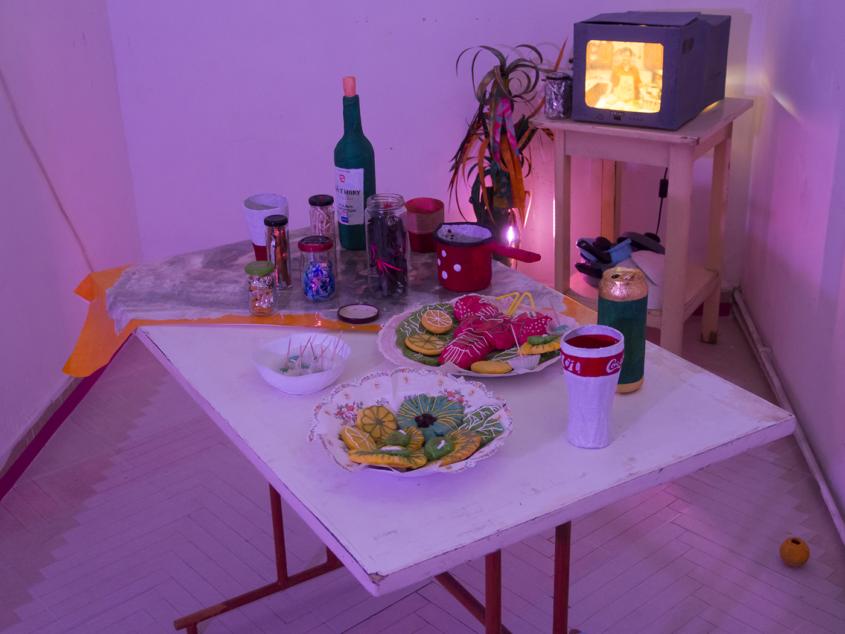 art exhibition contemporary artist 500g 6l marina sztefanu fulop gergo kavics underground budapest hungary environment